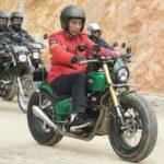 Cari Sensasi lain, Presiden Jokowi Kendarai Kawasaki W175 Custom di Nunukan
